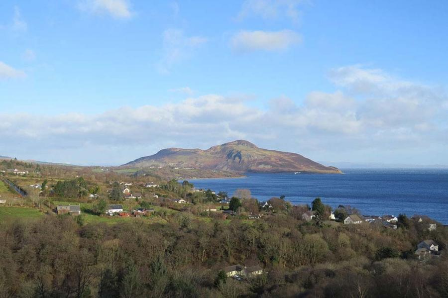 Holy Isle from Giants Graves